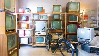 たくさんのブラウン管テレビ