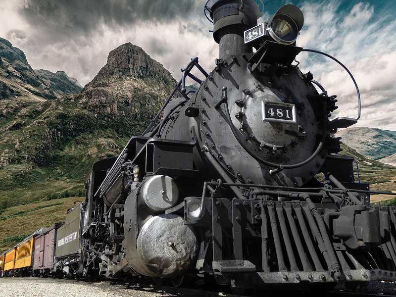 力強い機関車